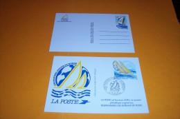 2 CARTE POSTALE AVEC 2.30 COURSE ATOUR DU MONDE  2.30  + 2.80 - Standard Postcards & Stamped On Demand (before 1995)
