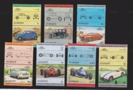St Vincent 1985 Classic Car Automobile Set Of 7 Pairs MNH - St.Vincent (1979-...)