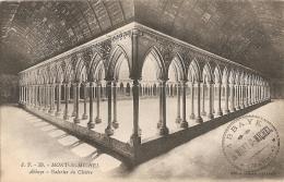 50 - Mont-St-Michel - Abbaye. Galeries Du Cloître - Edition Spéciale De L'Abbaye / J. P. 39 [tampon De L'Abbaye] - Le Mont Saint Michel