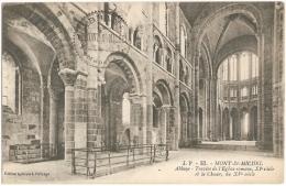 50 - Mont-St-Michel - Abbaye - Travée De L'Eglise Romane, XIe Siècle Et Le Choeur, Du XVe Siècle - J. P. 52 - Le Mont Saint Michel