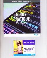 Réseau De Bus Et Tramway De Grenoble Transport En Commun Nouveau Réseau 2014 4 Articles (ref 273 274) - Europe