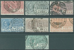 ITALIA - 1926-28 - USED/OBLIT.  - EMANUELE III - Yv 3 - 9 - Sa S. 1500 2A - 7 - Lot 10479 - Airmail