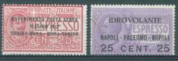 ITALIA - 1917 - USED/OBLIT.  - EMANUELE III - Yv 1 - 2 - Sa 1 2 - Lot 10480 - 1900-44 Vittorio Emanuele III