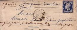 VAUCLUSE - PERNES DE VAUCLUSE - PC2404 SUR N°14 BLEU FONCE - INDICE 11 COTE 80€. - 1849-1876: Période Classique