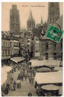 CPA ROUEN (76): Rue De L'Epicerie (belle Animation) - Rouen
