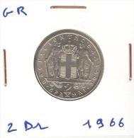 2 Drachme Grèce / Greece 1966 - Grèce