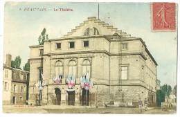 Cpa: 60 BEAUVAIS Le Théâtre (petite Animation)  N° 6 - Beauvais