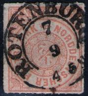 Rotenburg Auf 1/2 Groschen Orange - NDP Nr. 3 - Pracht - Norddeutscher Postbezirk