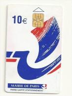 CARTE STATIONNEMENT PARIS 10 EUROS - Tarjetas De Estacionamiento (PIAF)