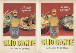 1964 -  DANTE  Olio Di Oliva  -   4  P.  Pubblicità Cm. 13,5 X 18,5 - Reclame