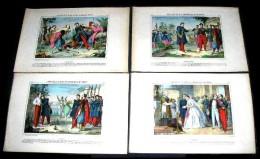 IMAGERIE PELLERIN  - D' EPINAL : N° 103. AVENTURES D' UN JEUNE OFFICIER. 4 Planches - Old Paper