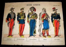 IMAGERIE PELLERIN  - D' EPINAL : N° 432. OFFICIERS SUPERIEURS - Old Paper