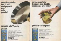 1966 -  TOPAZIO Olio Di Semi    -  3  P.  Pubblicità Cm. 13,5 X 18,5 - Publicités