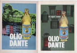 1966 -  DANTE Olio Di Oliva   -  2  P.  Pubblicità Cm. 13,5 X 18,5 - Reclame
