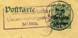 BELGIQUE - CARTE-LETTRE ENTIER POSTAL – OCCUPATION ALLEMANDE - 1915 - Entiers Postaux