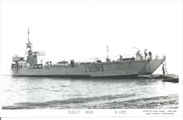 """CP PHOTO: """" E.D.I.C. 9093 """" - L 9093   - 9-1972  ( Animées -  BATEAU DE GUERRE ) - Warships"""