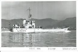 """CP PHOTO: """" E.D.I.C. 9095 """" - L 9095   -  31-3-1959  (  -  BATEAU DE GUERRE ) - Warships"""