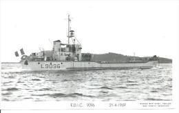 """CP PHOTO: """" E.D.I.C. 9096 """" - L 9096   -  21-4-1959  ( Animées -  BATEAU DE GUERRE ) - Warships"""