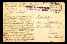 INTERNEMENT DES PRISONNIERS DE GEURRE - GRINDELWALD - SUISSE - 2 SCANS