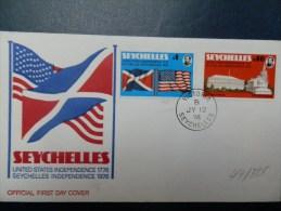 47/325   FDC  SEYCHELLES - Onafhankelijkheid USA