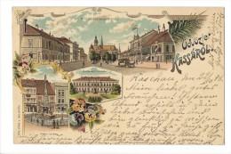 10715 - Üdvözlet Kassarol Litho 1898 - Hongrie