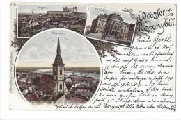 10716 - Üdvözlet Pozsony Litho 1898 - Slovaquie