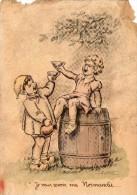 Dessin De JYLBERT   - Enfants  -   Je Veux Revoir Ma Normandie ...   (Dessin Style Germaine Bouret) - Vieux Papiers