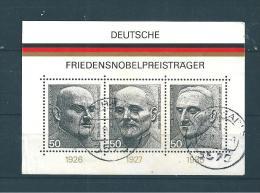 Allemagne  Fédérale  Bloc  N°10   De 1975    Oblitéré - BRD