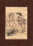 Dessin De JYLBERT   - Enfants  -   En Dansant La Bourrée ...    (Dessin Style Germaine Bouret) - Vieux Papiers