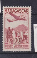 MADAGASCAR N° PA 62 100F BRUN ROUGE TYPE A GRAVE - Madagascar (1889-1960)