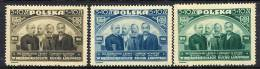 POLAND 1946 Peasants´ Movement Set MNH / **.  Michel 448-50 - 1944-.... Republic