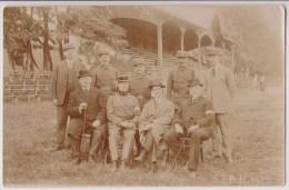 CARTE PHOTO  : MILITAIRES - OFFICIELS - DES TRIBUNES - S.I.B.M. 1922 - 2 SCANS -