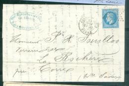 Yvt N°29 / Lac De Paris R. Du Pont Neuf , étoile N°17 En Nov 1869    - Aab6505 - Postmark Collection (Covers)