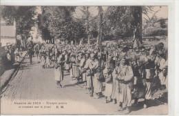 GUERRE 1914-1918 / TROUPES NOIRES SE RENDANT SUR LE FRONT - War 1914-18