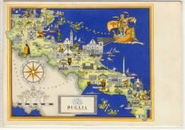 PUGLIA  -  Mappa Storica MAP MAPA - Carte Geografiche