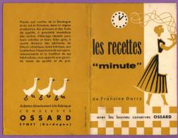 """Livret Les Recettes """"Minute"""" De Francine Darcy Avec Les Bonnes Conserves OSSARD - Reclame"""