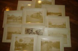 UNIQUE !! RUSSIE RUSSIA - +/- 1890 - LOT 10 PHOTOS - INSTALLATION TRAM ACEC CHARLEROI - MOSCOU ? ST PETERSBOURG ?