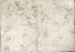 Delagrive Abbé VIII Feuille Saint Denis (93) De L'imprimerie De Fourneau Paris 1746 - Topographical Maps