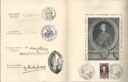 CAMBRAI Recueil Avec TP FDC Et Signatures Officielles 1947 Numéroté 2620 - Blokken En Velletjes