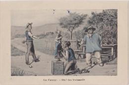 Cpa,dessin Humoristique,sur Les Veinards Au Jeu,boule - Cartes Postales