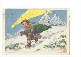10741 -  Enfant Portant Un Sapin Signé J. Dostalik  (Format 10X15) - Illustrators & Photographers