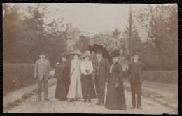 RARE ! SUPERBE PHOTO LAEKEN - LAKEN Vers 1905 - FAMILLE TIETZ ( - HILPERT ) DEVANT LE PONT DU PARC - Laeken