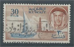 Kuwait, 30 F, Dhow, Derrick And Sheik, 1961, VFU - Kuwait