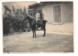 Photographie Militaires France 1918 Verone Italie (Général Louis Edmond GRANGE à Cheval) - Documents