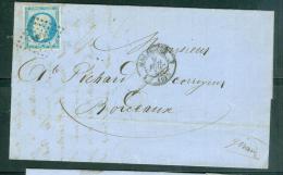 Yv N°14 Type I / Lac De  Marseille PC1896 POUR BORDEAUX EN JUILLET 1858 - Aab6605 - Marcophilie (Lettres)