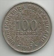 West African States 100 Francs 1967. - Monnaies