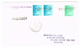 RB 1005 - 1978 St Helena Paquebot Ship Letter M/S Janne Silvana - 7p Rate To UK - Maritime Theme - Saint Helena Island