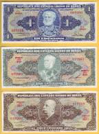 BRESIL - Lot De 3 Billets De 1, 2 Et 5 Cruzeiros. NEUF - Brasil