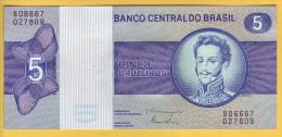 BRESIL - Billets De 5 Cruzeiros. Pick: 192d. NEUF - Brazil