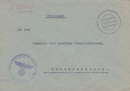 Feldpost WW2: From Brussel In Belgium - 4. Batterie Reserve-Flak-Abteilung 401 FP L25448 LGPA Münster I To Landrat Des K - Militaria